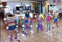 """Kunstuge 2012 - """"KROPPEN"""" / ...Vi studerer """"kroppen"""" - På Børnenes Friskole. Børnene tegner, maler, former og bevæger kroppen...."""