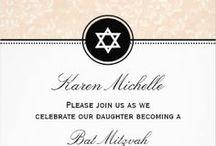 Bat Mitzvah Invitations / www.Invitations-Unlimited.com / by Invitations Unlimited