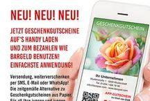 App Gutscheine, NEU und einfach genial!!! / Das Smartphone ist heutzutage ständiger Begleiter, und kann ab sofort auch via App-Gutschein zum Bezahlen wie Bargeld verwendet werden.  Mit app-gutscheine.com landen Geschenkgutscheine mittels SMS, E-Mail oder per WhatsApp direkt auf dem Smartphone Ihres Kunden und können von dort aus x-beliebig weiterverschenkt (bzw. verschickt) werden.   Alle Infos und Designs unter www.app-gutscheine.com