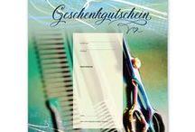 Friseur-Geschenkgutscheine / Geschenk-Gutscheine für Friseur und Hairstylisten ... Geschenkgutscheine sind immer eine gute Geschäftsidee