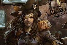 Rogue Trader 40k / Inspiration for Rogue Trader RPG and character portraits