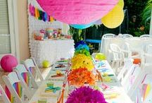 Kids Party Ideas / Brightly colored Art themed party ideas #CMYK #client