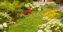 Kathy Anderson,garden painting / Kathy Anderson,garden painting