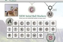 Initial Ball Markers!! - Golf Accessories / Now available on Navika.com.  Mark your spot with your initial.  Available in BLACK & PINK- Available in: A, B, C, D, E, F, G, H, I, J, K, L, M, N, O, P, R, S, T, V, W, & Y