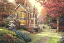Georgeous Thomas Kinkade paintings