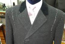 Over Coat negro con tapa de velvet / Genero Italino y velvet ingles