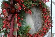 Christmas Wreaths / Nothing like a Christmas wreath for the front door!