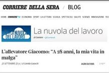 Dicono di Noi - About Us / Here are news, articles written on newpapers, blogs that talk about our start up project.