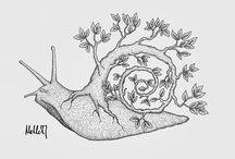 doodle kenks! / sketch sketchbookpro drawing draw digitalart illustration doodle lineart linework art artwork tree bug animal slice