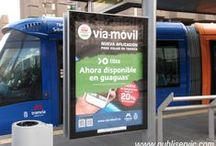 Publicidad en Mupis / Trabajos realizados en mupis y marquesinas en las Islas Canarias.