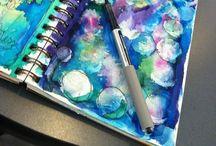 Art journal & sketchbook ideas / Art journal & sketchbook ideas & inspiration. Illustration, painting, collage & mixed media