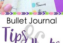 Bullet journal tips / Bullet journal ideas, how-tos, tips, inspiration & examples