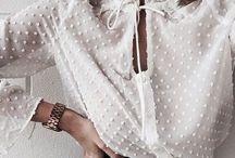 Fashion: white blouse / Basic white blouse