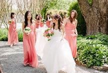 Coral wedding inspiration / Coral is a beautiful colour for a wedding.  www.yourfairytale.nl