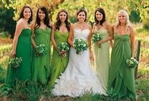 Green wedding / Green themed wedding. Green is beautiful with colours like white, purple, yellow, blue