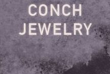 Conch Jewelry / Beautifully crafted studs and and rings from designer Maria Tash.