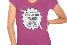 Teacher T-Shirts / Choose your color and choose your design for your very own t-shirt. Music Teacher Tees, Elementary Classroom Tees.