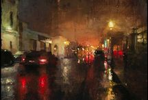 Paintings - cityscapes / urban expressionism / by Marianne Rijvers