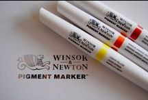 My new art supplies! / New #PigmentMarker for new colorful artworks. Thanks Winsor&Newton and ColArt for this great #noOrdinaryMarker Set. Let's start painting now :-)