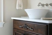 Bathroom ideas /  Wonderful Ideas for your bathrooms! #bathroom, #customcabinets, #Walkerwoodworking www.walkerwoodworking.com