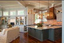 Cabinets /  #Custom #Cabinets by #WalkerWoodworking #Kitchen #KitchenDesign #Granite #Countertops #HardwoodFloors #BackSplash #Hood #GlassCabinets