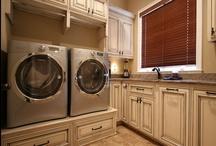 Laundry Room  /  #Laundry Room, #Laundry, #Cabinets, #CustomCabinets, #Washer, #Dryer, #Getorganized, #WalkerWoodworking, #Paintedcabinets, #remodel,