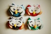 salt dough and polymer clay decorations / handmade