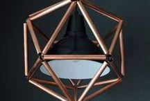 Lampen / Koperen en metalen lampen helemaal hip
