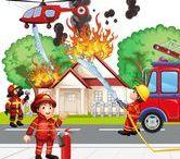 Thema brandweer kleuters / Theme firefighter preschool / Thema brandweer kleuters lessen en knutsels / Theme firefighter preschool lessons and crafts