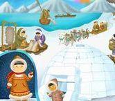 Thema Noordpool Zuidpool, kleuters/ Theme Polar region, preschool / Le pôle nord, maternelle / Thema zuidpool kleuters lessen en knutsels, pinguins, ijsberen, eskimo's, iglo's / Theme Polar region preschool lessons and crafts / / Le pôle nord maternelle, bricolage, les igloos, inuit, esquimales.