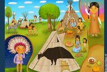 Thema Indianen kleuters / Native American theme preschool / Indiens thème maternelle / Dia do Índio / Thema Indianen kleuters, lessen en knutsels / Native American theme preschool , lessons and crafts / Indiens thème maternelle / Dia do Índio