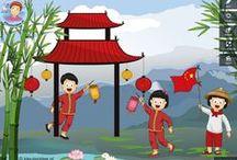 Thema China kleuters / Theme China Kindergarten, preschool / Chine thème maternelle / Thema China kleuters lessen en knutselwerkjes / Theme China Kindergarten, lessons and crafts / Chine thème maternelle