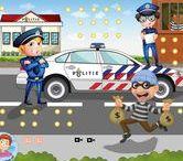 Thema Politie kleuters / Kindergarten police theme / Thema Politie kleuters lessen en knutsels / Kindergarten police theme. lessons and crafts