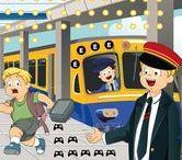 Thema 'de trein' voor kleuters, station, conducteur / Kindergarten and Preschool theme trains / Thema de trein, station, conducteur / Kindergarten and Preschool theme trains / Train thème maternelle, bricolage
