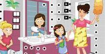 Thema 'het huishouden' voor kleuters / Kindergarten housekeeper theme / Thema 'het huishouden' voor kleuters / Kindergarten, preschool housekeeper and cleaning theme