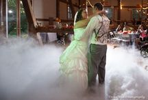 "Dancing on the clouds / We can provide for your 1st wedding dance a big thick white fluffy cloud that makes it seem like your ""dancing on a cloud"" this makes for awesome photos."