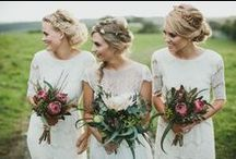 Bridal Hair / Gorgeous & romantic wedding hair inspiration. A mix of updos, half up, braided, long, & short styles. Even a few hair styles with a veil or flowers!