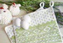 #GjestalGarn: Påske & Vårfest / Du kan strikke og hekle søte duker, løpere, kluter, briikker og gøyal pynt til påske- og vårfesten.