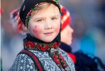 We LOVE Norwegian Folk Costumes / It's all about a rich textile history in knitting, weaving and  embroidery.