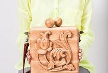 wooden bags / Style created by nature itself. The beech tree is 100%. Balls made of juniper. Size 20 * 20 * 8 cm. Includes 2 shoulder straps, for a backpack and for a bag. For those who believe in a fairy tale. www.novik.love