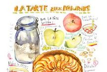 Illustrated Recipes / Not just food illustrations but whole recipes illustrated. So gorgeous.
