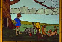 Glass Pooh & Friends