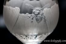 Glass Honey Pots & Bees / I can feel a new collection coming on.........Please do take as many as you want, my boards have no limits:)