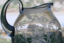 Catherine Miller Engraved Glass / Catherine Miller executes her beautiful designs by hand using the old method of wheel engraving onto crystal & glass.