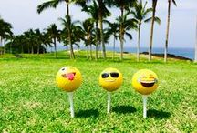 The Adventures of the Three Emojis / Three Emoji Golfers on Hawaii Island