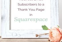 Squarespace and Email Marketing / How to Use Squarespace with Mailchimp, ConvertKit, Aweber, etc.