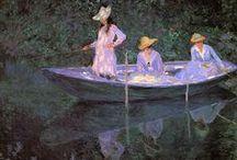 Monet Claude / Claude Monet (né Oscar-Claude Monet le 14 novembre 1840 à Paris et mort le 5 décembre 1926 (à 86 ans) à Giverny), est un peintre français, l'un des fondateurs de l'impressionnisme, peintre de paysages et de portraits. / by Mélanie