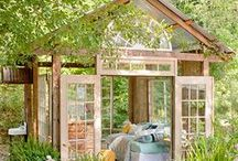 She shed / not a female alternative to a man caves...just a chic hut!