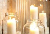candles , lights / Different lights create different moods and ambiences