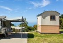 Apollo Bay Caravan and Camping / Our powered sites and designed to accommodate large vans so it's the perfect stay for big families too!